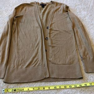 Tommy Hilfiger camel colored button down cardigan